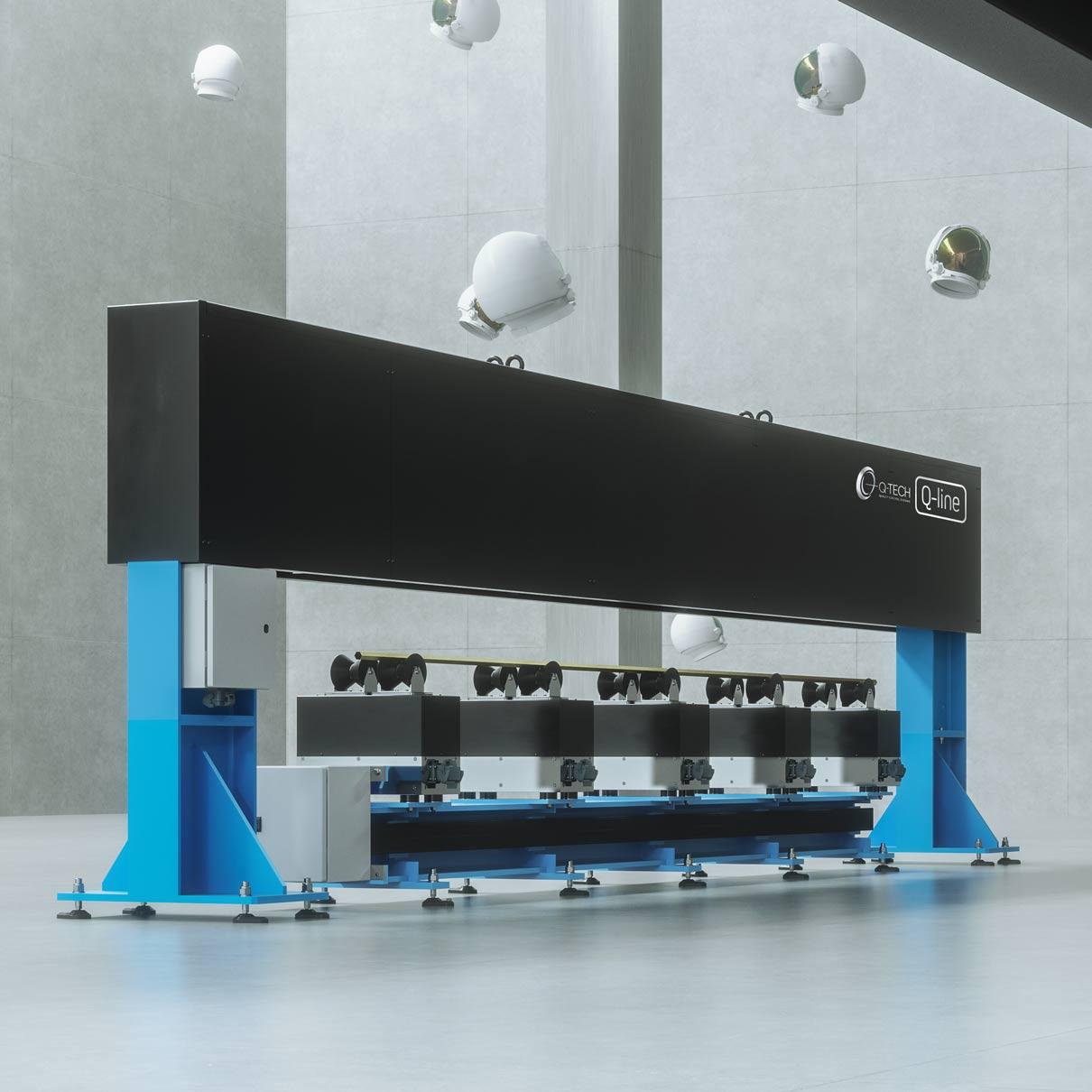 Controllo laser rettilineità barre, Q-Tech, Brescia